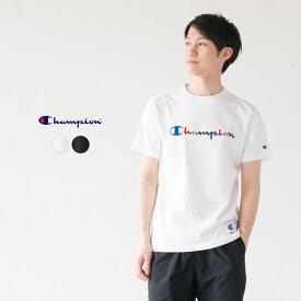 【30%OFF】チャンピオン スクリプトロゴ 半袖 Tシャツ C3-H371 カラフル刺繍 アクションスタイル [ネコポス可]