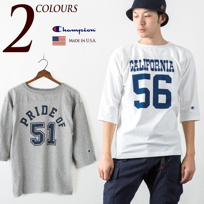 チャンピオン T1011 アメリカ製 七分袖 フットボール Tシャツ CHAMPION C5-K402/C5-J402 ティーテンイレブン 3/4袖Tシャツ メイドインUSA