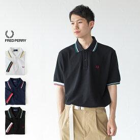 フレッドペリー ポロシャツ 日本製 F1755 クレイジーカラー リブ ラインポロシャツ 大きいサイズ