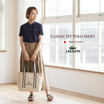 LACOSTEレディース日本製ポロシャツ[3色]ラコステポロシャツ