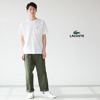 ラコステ日本製ポケットTシャツ半袖クルーネックレギュラーフィットLACOSTETH633E