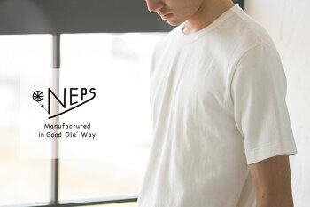 NEPS斑糸吊り編み半袖Tシャツネップスむら糸/落綿/リサイクルコットン【レビュー記入で500円クーポン対象品】