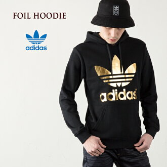 """Adidas originals SY FOIL trefoil Hoodie [Black/metallic gold""""adidas ORIGINALS SY FOIL HD sweatshirts hoodies"""