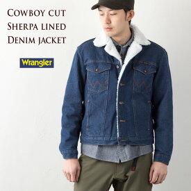 [ラングラー デニムジャケット] デニム シェルパ ジャケット [14オンス ブロークンデニム] ランチコート WRANGLER COWBOYCUT SHERPA LINED DENIM JACKET 74255PW