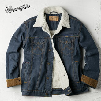 카우보이 컷 데님 일컫는 재킷 WRANGLER COWBOYCUT SHERPA LINED DENIM JACKET 74256RT