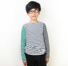 子供服長袖トップスクレイジーボーダーTシャツシンプルキッズ子供服子どもこども服cockyコッキートップス男の子110cm120cm130cm140cm150cm160cm