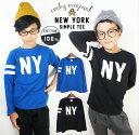 コッキー NEW YORK 長袖Tシャツ 男の子 110cm-160cm ホワイト/ブルー/ブラック 綿100%