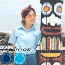 """アロハシャツ かりゆしウェア """"Tradition"""" レディース(女性用) 半袖レギュラーシャツ 全2色 大きいサイズあり  沖…"""