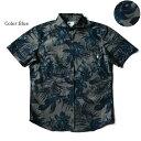 アロハシャツ かりゆしウェア メンズ(男性用)「Night flower」全2色 人気アロハがリニューアル! 半袖 3L4L5L 大きい…