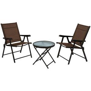 ガラス ガーデンテーブル 3点セット ガーデンテーブル チェア2脚 セット スチール製 ガラステーブル ガラスガーデンテーブル アウトドア ガーデンセット ガーデンテーブルセット 折りたた