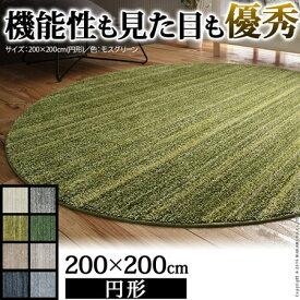 ミックスカラーラグ Luna ルーナ 丸型 直径200 ラグ 単品 防音 防ダニ 防炎 日本製 33100280