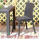 完成品 ガーデンチェア 2脚セット ガーデン カフェ オープンカフェ お洒落 スタッキングチェア 椅子 イス いす ベランダ 省スペース 軽量 プラスティック プラスチック アウトドア