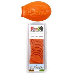 【代引き・同梱不可】 正規輸入品 アメリカ Pawz Dog Boots社製 ポウズ ラバードッグブーツ オレンジ XS PZXS 防水 肉球保護 いぬ 犬ブーツ ペット用品 雨の日 ギフト かわいい 雪遊び ゴ