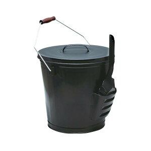 【代引き・同梱不可】 ストーブアクセサリー 灰入れバケツとショベルセット PA8447 薪 おしゃれ 暖炉 スコップ 焚火 容器 入れ物 グッズ