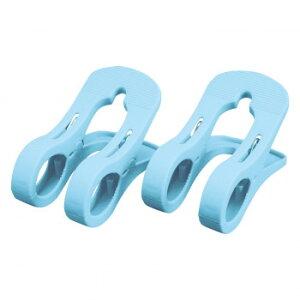 【代引き・同梱不可】 竿止めクリップ 2個組 落下防止 竿ピンチ 止める ダブルピンチ 固定 ストッパー 上靴 強力 物干し U字 洗濯ばさみ 靴 受け