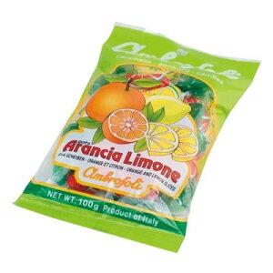 【代引き・同梱不可】 ambrosoli(アンブロッソリー) キャンディ オレンジ・レモン 袋入 100g×12袋