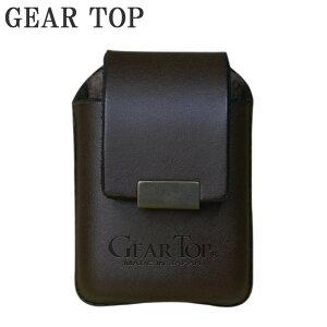 【代引き・同梱不可】 GEAR TOP オイルライター専用 革ケース ベルト通し付 GT-202 BW