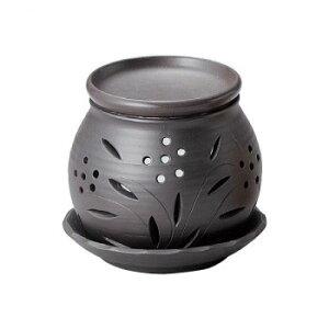 【代引き・同梱不可】 富仙黒丸茶香炉 M-1604