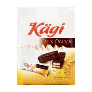 【代引き・同梱不可】 Kagi(カーギ) チョコウエハース ミニダークオレンジバッグ 125g×12袋 スイーツ おやつ ウエハース スイス チョコレート 食品 お菓子 チョコレート菓子