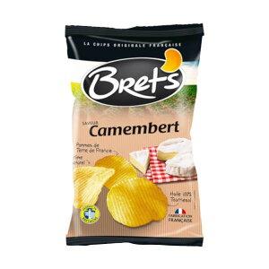 【代引き・同梱不可】 Brets(ブレッツ) ポテトチップス カマンベールチーズ 125g×10袋 フランス チーズ味 おやつ 海外 お菓子 スナック菓子 食品 スナック