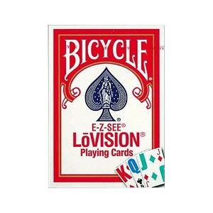 【代引き・同梱不可】 プレイングカード バイスクル ロービジョン 赤(弱視者用) PC125A 文字大きい ゲーム テーブルゲーム 手品 マジック 文字見やすい トランプ おもちゃ