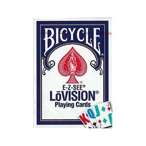 【代引き・同梱不可】 プレイングカード バイスクル ロービジョン 青(弱視者用) PC125B マジック ゲーム 文字見やすい おもちゃ 手品 文字大きい トランプ テーブルゲーム