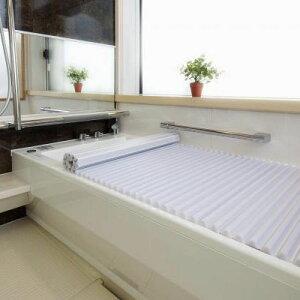 【代引き・同梱不可】 イージーウェーブ風呂フタ 85×160cm用 洗いやすい お風呂 コンパクト サイズ 巻き戻り 白 浴槽 蓋 浴室