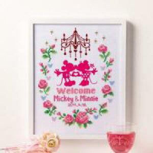 【代引き・同梱不可】 オリムパス 7372 ししゅうキット ディズニー ウェルカムボード ミニー ミッキー 初心者 結婚式 ウエディング 装飾 飾り ギフト かわいい 刺繍 手作り 日本製 ブライ