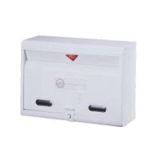 【代引き・同梱不可】 カラーポスト FH-50W 郵便ボックス 郵便 メールボックス 玄関 大型郵便物 オシャレ 白 郵便受け 屋外 おしゃれ A4 お洒落