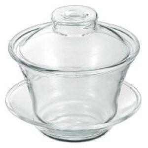 【代引き・同梱不可】 FH333 蓋碗 耐熱ガラス 透明 オシャレ お茶 ティーポット 湯呑 カップ 急須