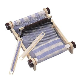 【代引き・同梱不可】 卓上手織機 プラスチック製(毛糸付) 組立 機織り 織物 趣味 教材用 おもちゃ ハンドメイド 手芸 プレゼント