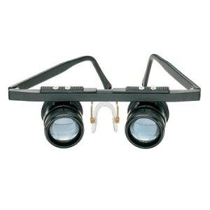 【代引き・同梱不可】 エッシェンバッハ 双眼ルーペ テレ・メッド(遠眼) (3倍) 1634 眼鏡型 拡大鏡 望遠 虫眼鏡 メガネタイプ 青レンズ シンプル プロ