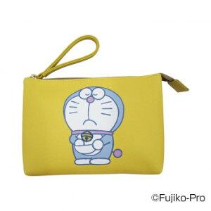 【代引き・同梱不可】 I'm Doraemon ドラえもん ワンポイント刺繍Wポーチ B(鈴 イエロー刺繍) DRA11-B