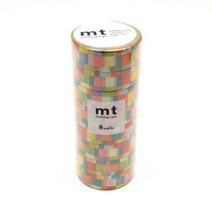 【代引き・同梱不可】 mt マスキングテープ 8P モザイク・ブライト MT08D176