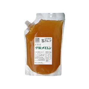 【代引き・同梱不可】 かき氷生シロップ 北海道メロン 業務用 1kg