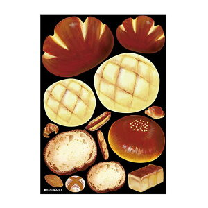 【代引き・同梱不可】 デコシールA4サイズ アンパン メロンパン アクリル 40241