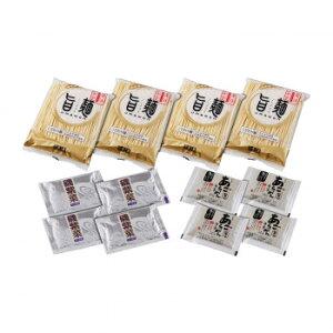 【代引き・同梱不可】 「旨麺」あごだし醤油ラーメンセット(磯紫菜付) 4食セット FA-4i