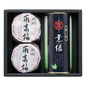 【代引き・同梱不可】 八女茶・紀州南高梅詰合せ YX-30G