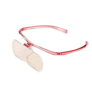 【代引き・同梱不可】 クロバー クラフトルーペ(1.6倍&2.0倍) 57-334 拡大鏡 眼鏡 パッチワーク めがね キルト メガネの上から 洋裁 メガネ型 ソーイングルーペ クラフト用