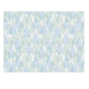 【代引き・同梱不可】 浴室目隠しシート 46cm丈×90cm巻 柄 ブルー(B) YMS-4604