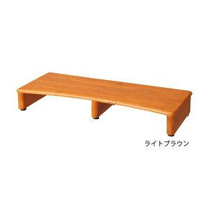 天然木玄関台(踏み台) 【3: 幅90cm】 木製 アジャスター付きライトブラウン【日時指定不可】