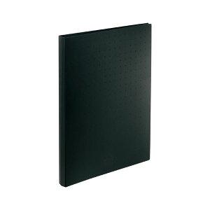 (まとめ) LIHIT LAB 名刺帳 ポケット交換タイプ A4判タテ型・30穴(ヨコ入れタイプ) 500カード 黒 【×5セット】【日時指定不可】