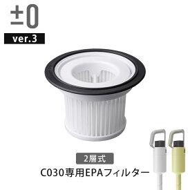 ±0 プラスマイナスゼロ コードレスクリーナー Ver.3 XJC-C030 EPAフィルター 交換フィルター 交換用 予備フィルター