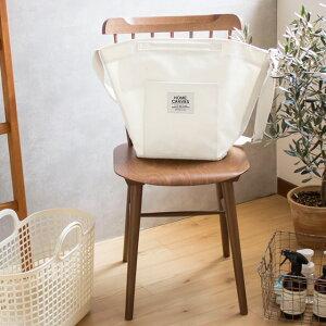 ランドリーバスケット 洗濯かご ホームキャンバス ランドリートート バッグ ホワイト ネイビー グレー 撥水加工 綿100% 日本製 ランドリー収納 便利 ランドリーバッグ カゴ おしゃれ かわい