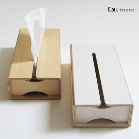 Eau TISSUE BOX (オー ティッシュケース ティッシュボックス ティシュー おすすめギフト 収納BOX 収納ボックス)