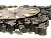 《バリ風の部屋》木製レリーフ時計プルメリア