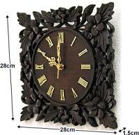 木製レリーフ時計プルメリア