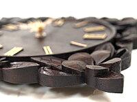 《バリ風の部屋》木製時計プルメリア
