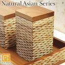 Natural Asian Series cottonswab case (綿棒ケース) ナチュラルホワイト【 綿棒ケース おしゃれ 木製 業務用 バリ 雑…