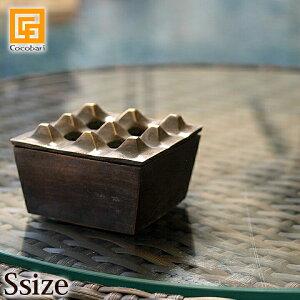 アッシュトレイ(真鍮)S 【 灰皿 フタ付き おしゃれ 屋外 重い 高級感 】